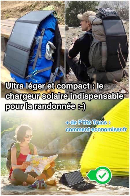 Pas évident de charger son téléphone sous la tente... Heureusement, il existe un chargeur solaire ultra léger et facile à emporter partout.  Découvrez l'astuce ici : http://www.comment-economiser.fr/le-chargeur-solaire-pour-smartphone-indispensable-pour-la-ra.html