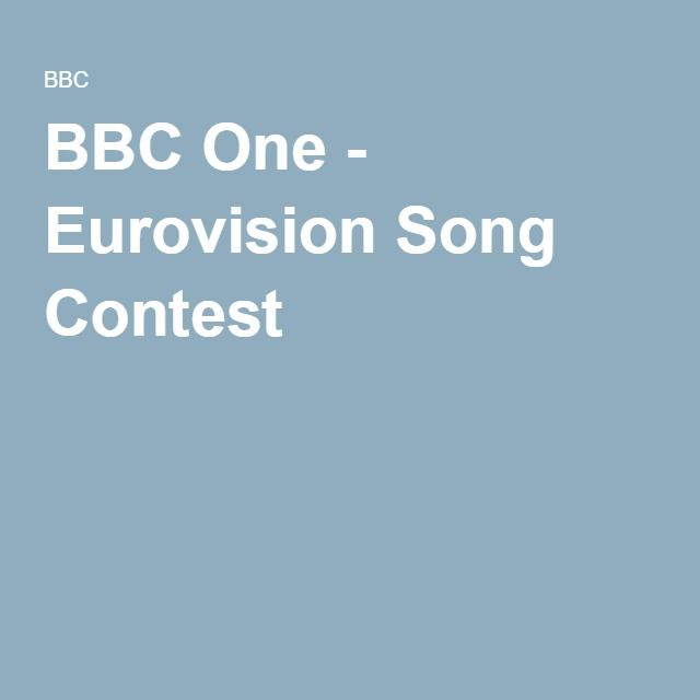 BBC One - Eurovision Song Contest