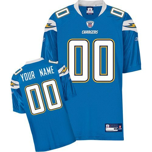 Chargers Personalized Authentic Baby Blue NFL Jersey (S-3XL ...