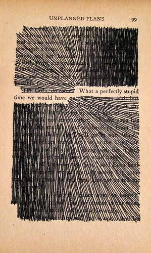 Have loose book pages? Find a sentence you like, mark out the rest, and frame it! » What a fun piece of art!