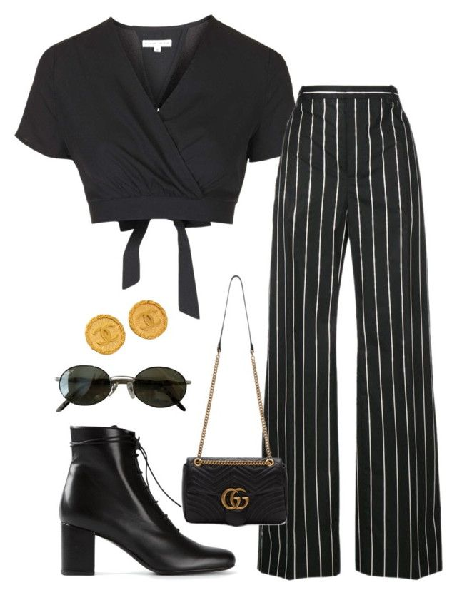 """Untitled #7222"" by ijustlikefashionman ❤ liked on Polyvore featuring Topshop, Balenciaga, Yves Saint Laurent, Gucci, Ray-Ban and Chanel"
