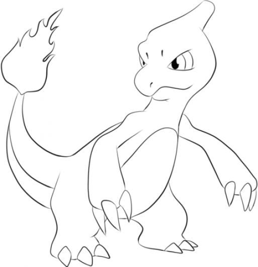 Charmeleon Coloring Page Kidswoodcrafts Pokemon Coloring Pages Pokemon Coloring Charmeleon Pokemon