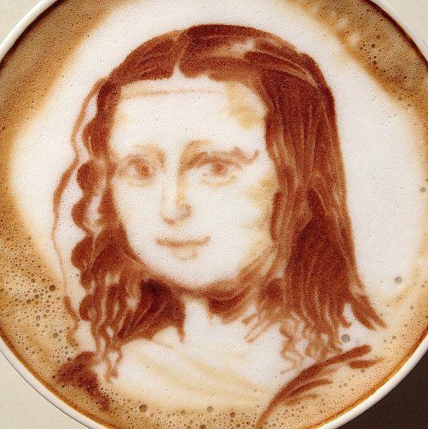 Mona Lisa Latte Art