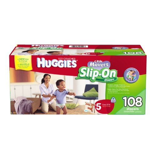 Huggies Little Movers Slip-On Diapers Mega Colossal Pack, Size 5, 108 Count - http://www.discoverbaby.com/diapers/huggies-little-movers-slip-on-diapers-mega-colossal-pack-size-5-108-count/