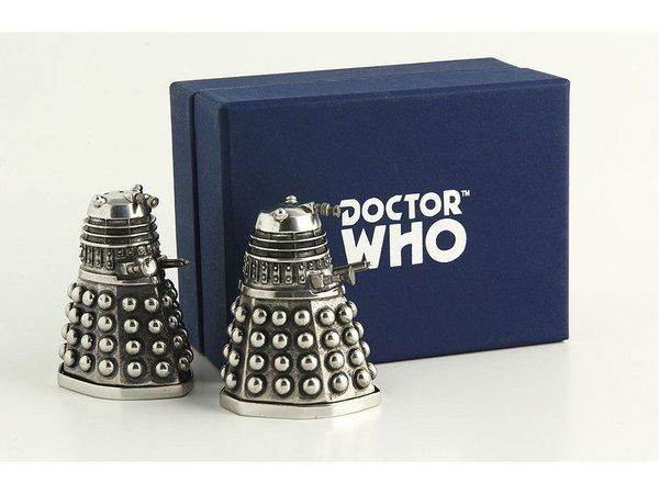 Dalek salt and pepper shakers: Pepper Shakers Need, Pewter Dalek, Pepper Shakers Want, Doctorwho, Doctor Who, Dalek Salt, Shakers Must, Salts, Pepper Shakers I