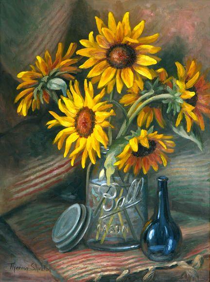 Sunflowers in Mason Jar Theresa Shelton | Ode to ...