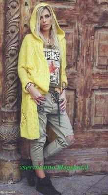 ВСЕ СВЯЗАНО. ROSOMAHA.: Летнее пальто или длинный жакет- ярко и элегантно!