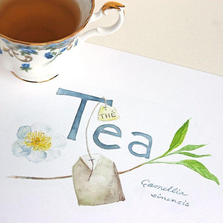 Botanical Tea Watercolor Print