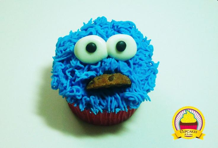 Un Monstruo comegalletas al cual no podrás resistirte.by cupcakes de la casa #cupcake