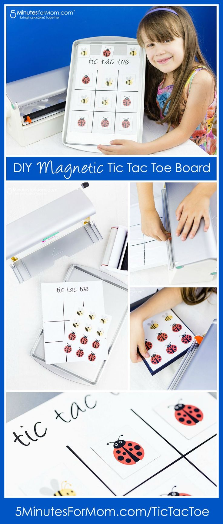DIY Magnetic Tic Tac Toe Board with Xyron Creative Station