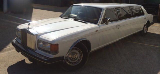 1984 White Rolls-Royce Silver Spirit Stretch Limousine