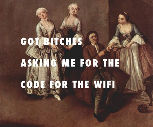 flyartproductions:  SO THEY CAN TALK ABOUT THEIR TIMELINESThe Family, Pietro Longhi / Energy, Drake