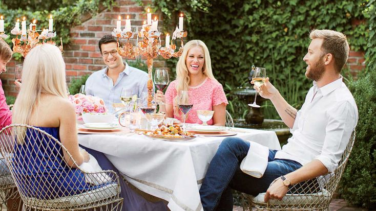 Golden Hour Summer Supper - Southern Living - Cassie Kelley and her husband, Charles—of the band Lady Antebellum—take entertaining outside to make the most of Southern summer nights