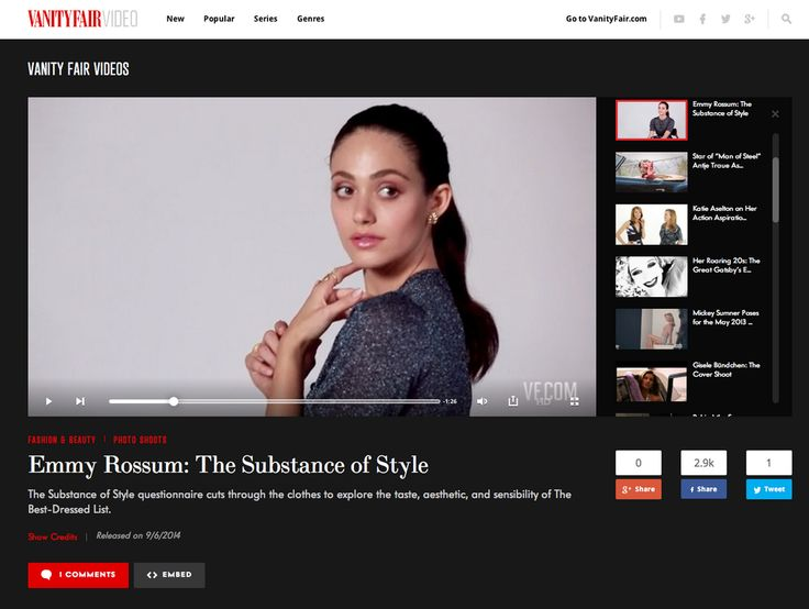 Emmy Rossum on Vanity Fair Best dressed list 2014!