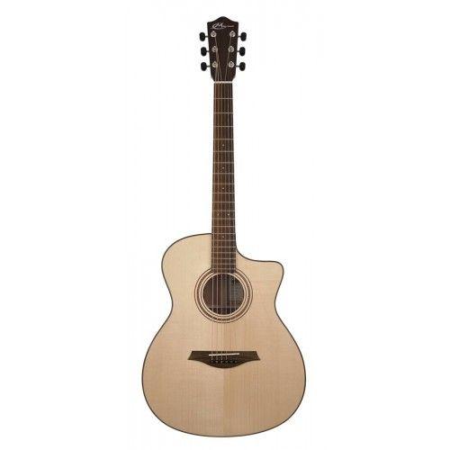 Mayson M1 è una chitarradi qualità superiore dove ogni particolare è stato studiato per ottenere il risultato che solo una chitarra Mayson oggi può dare.Sono stati scelti legni con stagionaturefatte in perfette condizioni ambientali per dare risalto ad ogni sfumatura tonale,abete Engelmann o cedro per il top, moganonelle fascee sulla cassa armonica posteriore, una accuratissimafinitura in PU nel top e PE per la schiena della chitarra. Questa ...