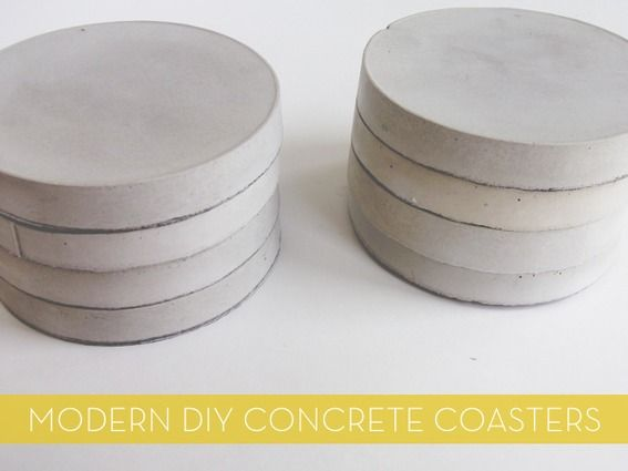 Make It: Modern DIY Concrete Coasters I'm on a concrete kick these days, exploring all the unique ways you can use it in home decor. From accent walls to candle holders, its possibilities seem endless... and these DIY coasters might be the simplest and easiest of them all!… Continue Reading