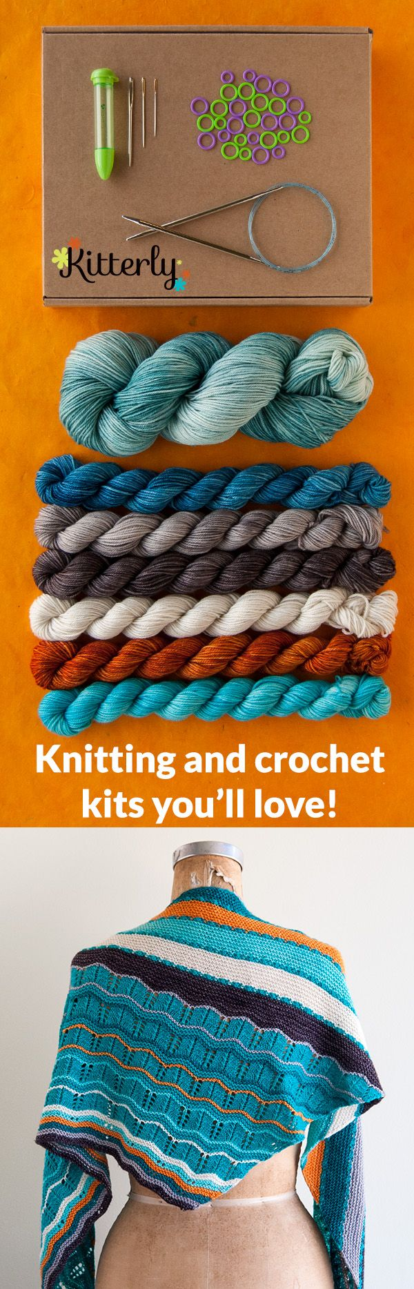 Craft Supply Shopping Made Simple! Shop Kitterly for Knitting & Crochet Kits to Make ANYTHING