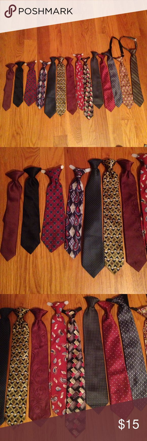Bundle of Clip-on Ties Set of 14 ties all in great condition!! These are all clip-on ties. If you're interested in some and not all then I can make a separate listing just let me know!! Accessories Ties