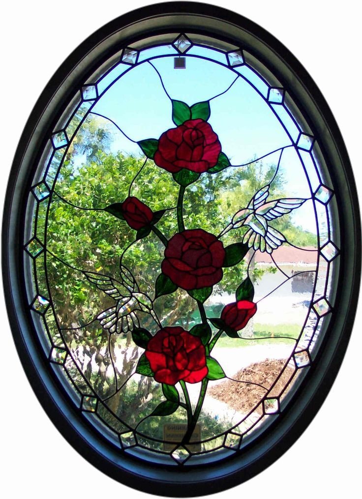 Custom design stained and beveled glass window made by ...