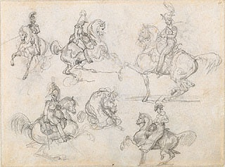 EQUESTRIAN. Horses and Riders, Théodore Géricault, 1817-18