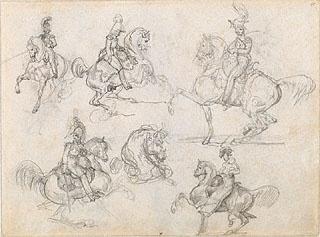 EQUESTRIAN. Horses and Riders, Théodore Géricault, 1817-18