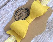 Big Felt Bow Headband- Mustard Yellow Bow- Wool Felt XL Bow on Chevron Elastic Headband- Yellow Toddler Headband- Girl's Large Bow Headband