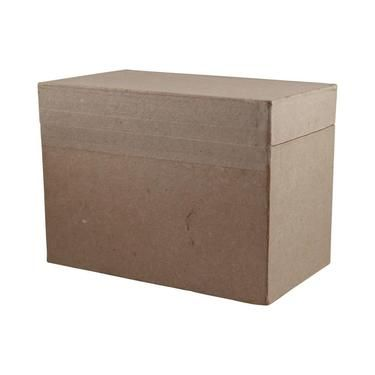 Shamrock Craft Papier Mache Recipe Box Natural
