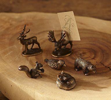 Woodland Animal Place Card Holders, Set of 6 #potterybarn