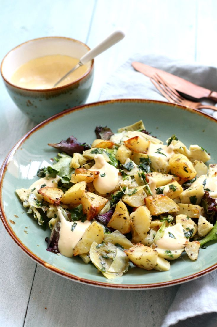 Ottolenghi's Aardappel & Artisjok Salade