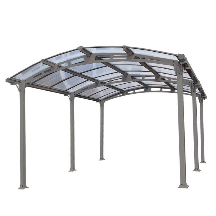 Palram Arcadia 5,000 12 ft. x 16 ft. Carport with Polycarbonate Roof-701592 - The Home Depot