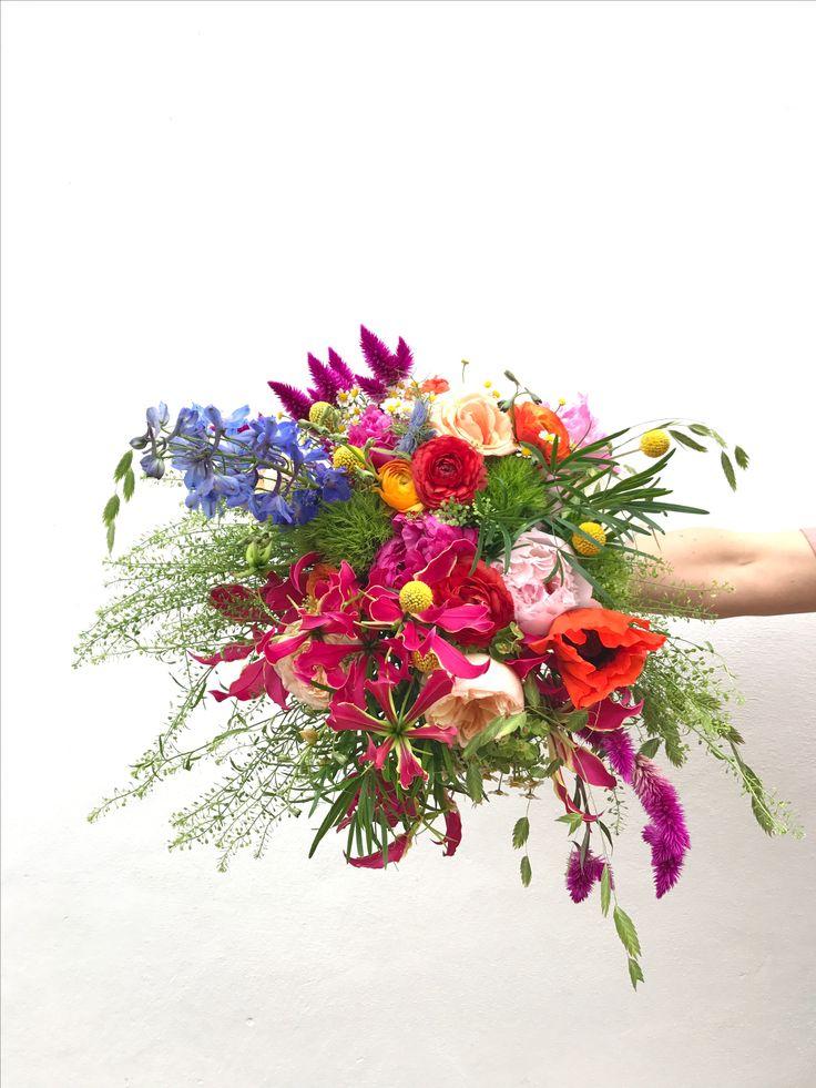 Summer Bridal bouquet. Floral bohemian brights