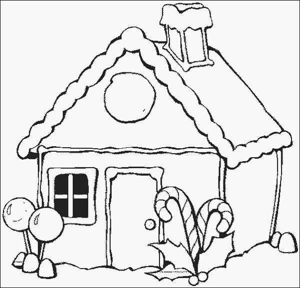 Dibujo Casita Navidena Paginas Para Colorear De Navidad Dibujos De Navidad Hojas De Navidad Para Colorear