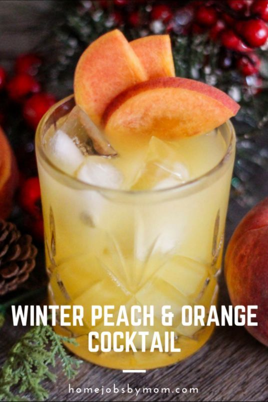 Winter Peach & Orange Cocktail. A refreshing winter cocktail of Peach Vodka, Wild Turkey American Honey, and orange juice. Perfect for a winter's night or a hot summer's day.