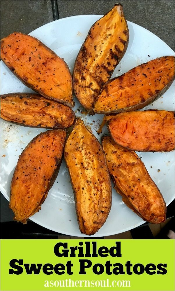 Smokey, with a little hint of spice makes these grilled sweet potatoes a fan favorite!