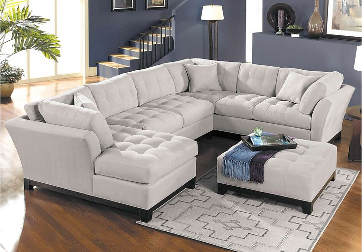 Cindy Crawford Home Metropolis Platinum Left 3 Pc Sectional - Living Room Sets
