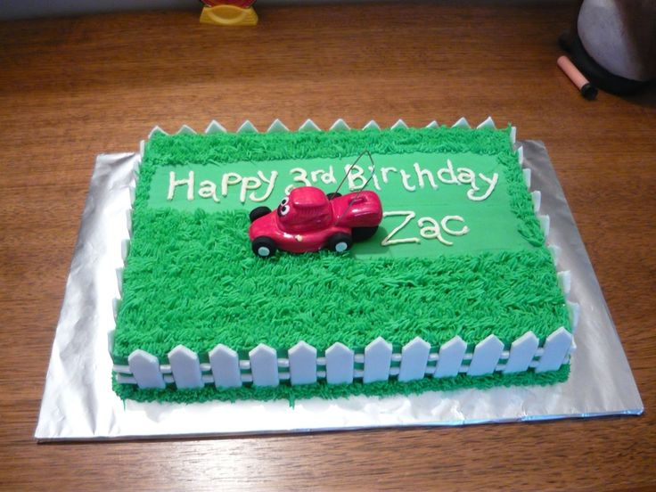 one mower her over for each window...thats a really well equiped lawn 'mow her over' service. lawn mower cake