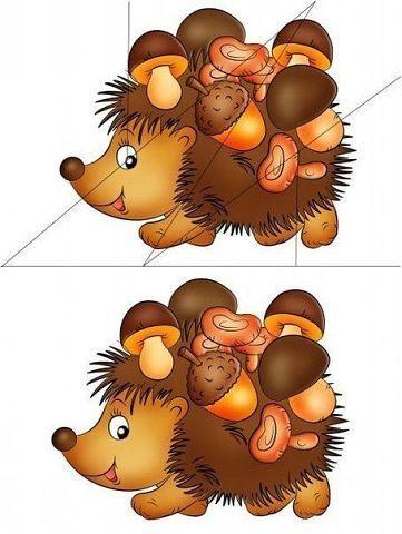 * Puzzel: Egel met voorbeeld!
