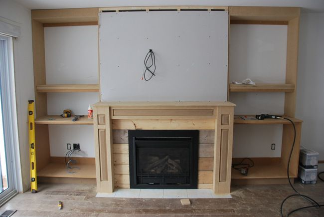 fireplace built in shelving 5 - via the sweetest digs