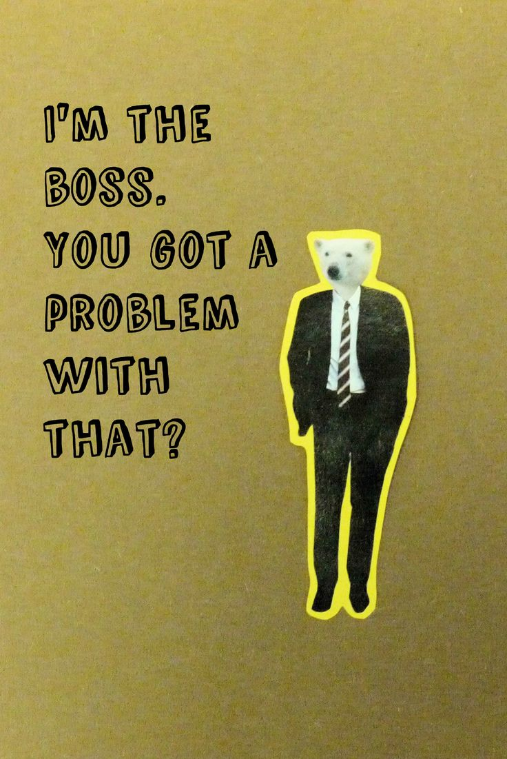 Bear is the boss. There are no problems with that.