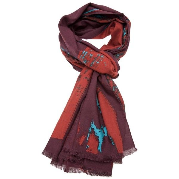 Vivienne Westwood 'New flag' scarf (41.245 HUF) ❤ liked on Polyvore featuring accessories, scarves, union jack scarves, vivienne westwood, colorful scarves, woven scarves and red scarves