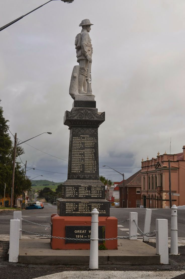 Braidwood NSW, Australia War Memorial. My Grandfather is listed here. 1st Light Horse.