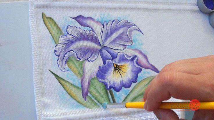 Orquídea em Tecido (Aula 53)
