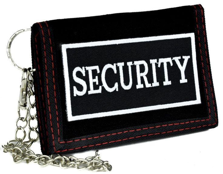 Five Nights at Freddy's Security Guard Tri-Fold Wallet with Chain Alternative Clothing FNAF