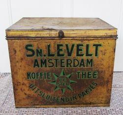 Oud koffie- en theeblik van Simon Levelt - VERKOCHT
