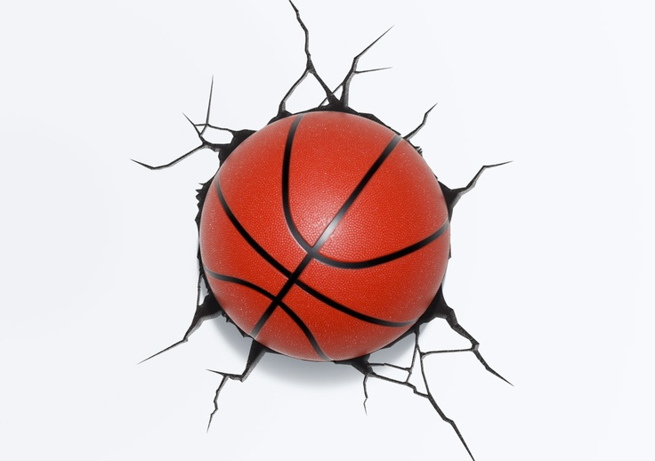 3d basketball deco light looks and feels like a real basketball bask - Deco basketball chambre ...