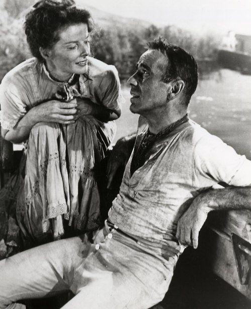 Humphrey Bogart & Katharine Hepburn in The African Queen (1951)