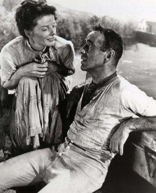 Humphrey Bogart & Katharine Hepburn in The African Queen (1951)