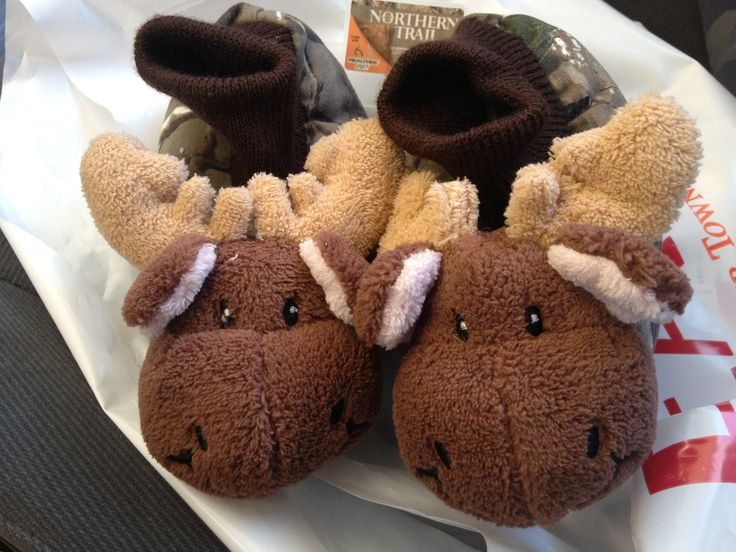 Kids Moose House Slippers