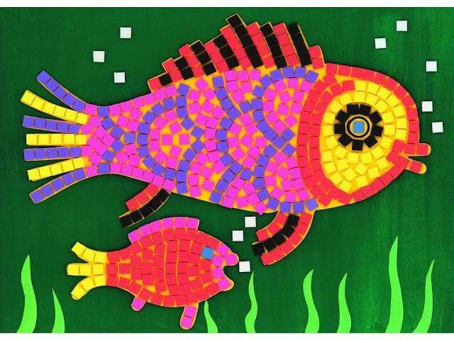 paper mosaic crafts for kids | funnycrafts