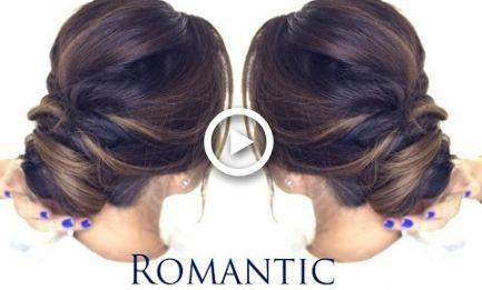 5-MINUTE Romantic Bun Hairstyle | EASY Updo Hairstyles #hairstyles | hairstyles videos videos straight elegant #promhairupdotutorial